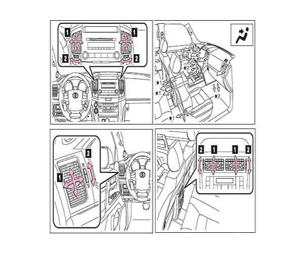 Armoured Toyota Land Cruiser 200 Air Condition flow drawing