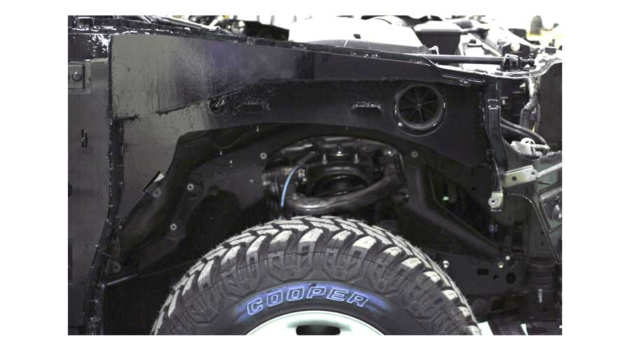 Armoured Toyota Land Cruiser 200 Front Fender Protection