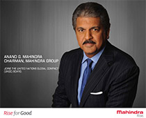 Anand Mahindra, Chairman of Mahindra Group