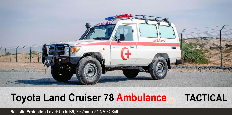 Mahindra Armoured toyota Landcruiser 78 Ambulances