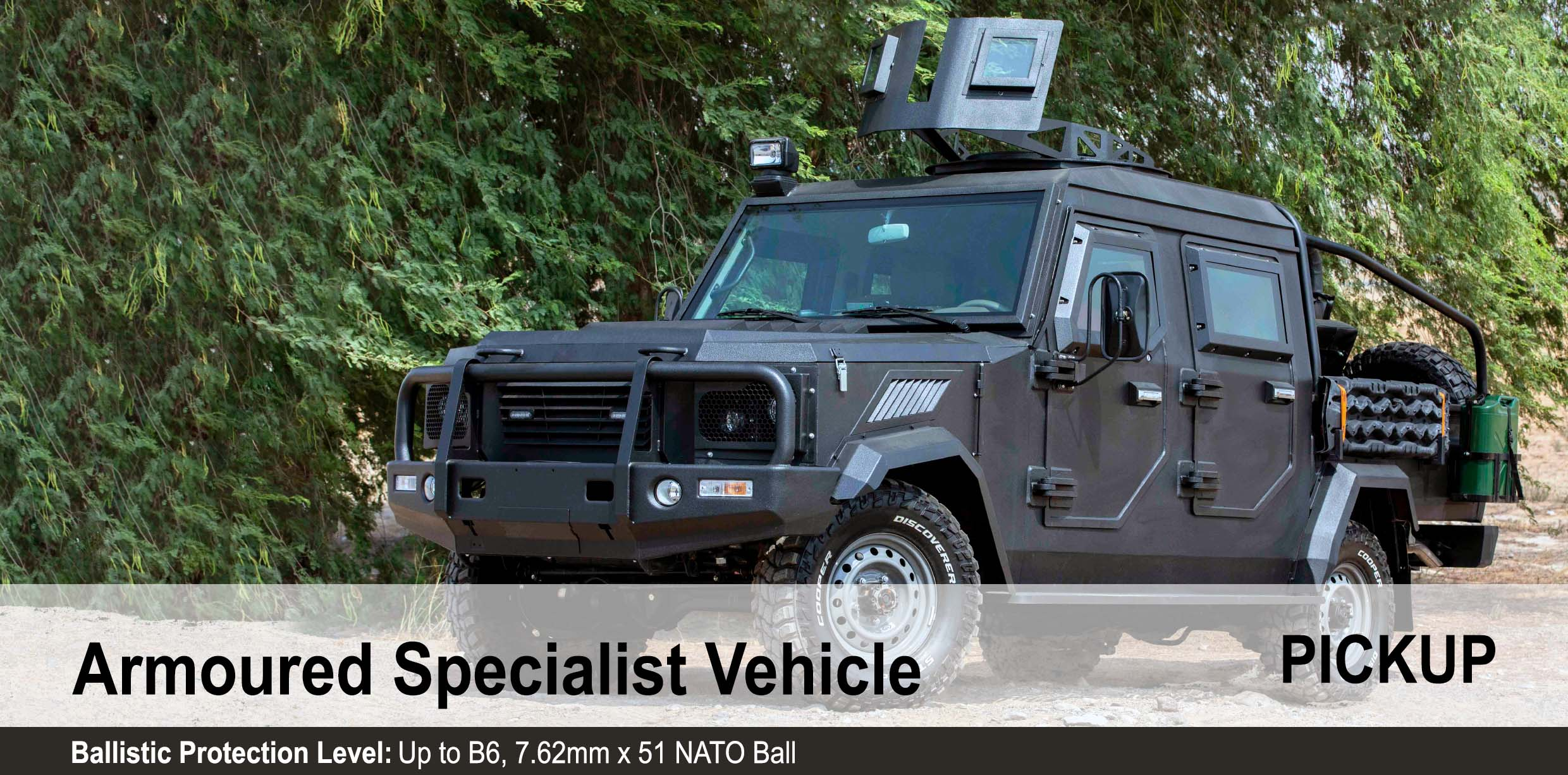 Mahindra Armored Specialist Vehicle, B6 Armoured Pickup truck