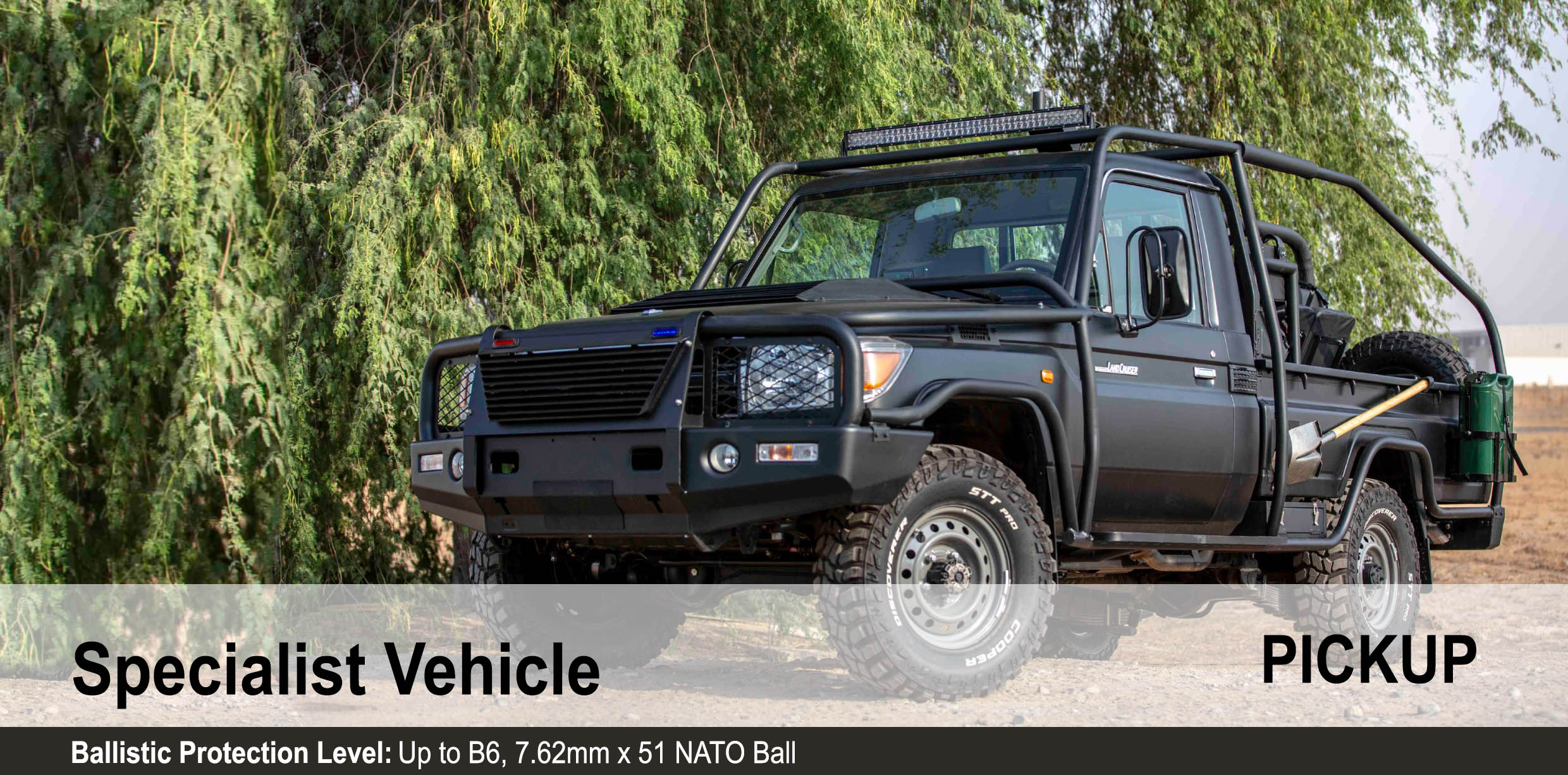 Mahindra Armored B6 Toyota Landcruiser 79 Pick Up Specialist Vehicle