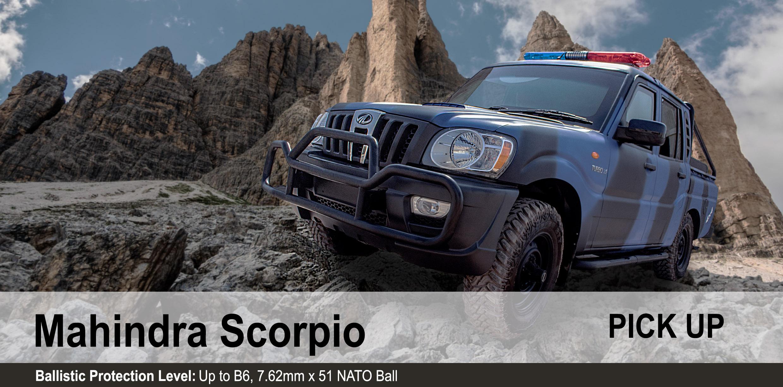 Mahindra armoured bulletproof Scorpio Pick Up