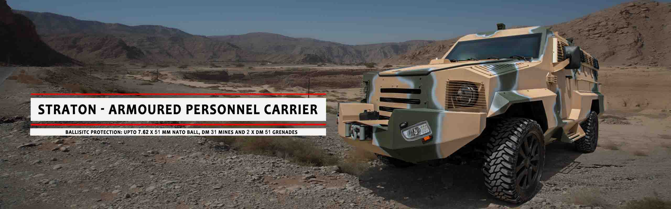 Mahindra Armoured Vehicles UAE - Jordan| Straton Armoured personel Carrier