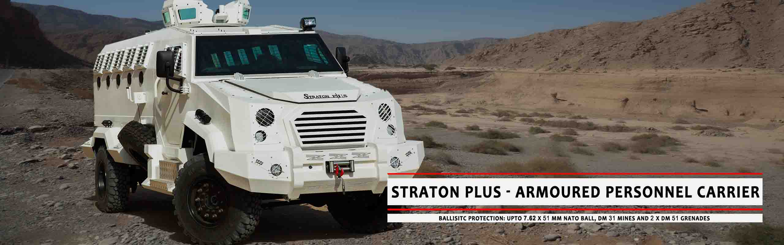 Mahindra Armoured Vehicles UAE - Jordan | Straton Plus Armoured Personal Carrier