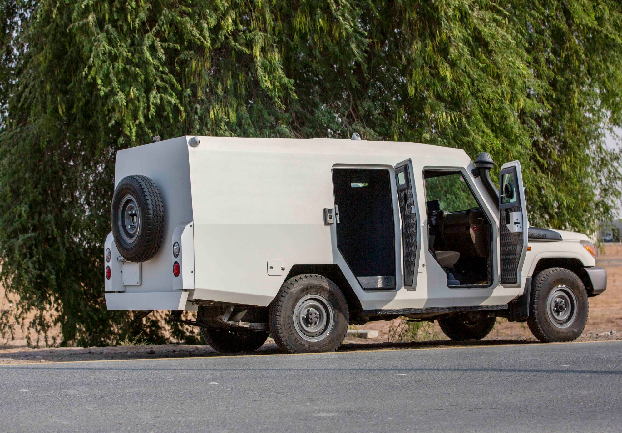 The Mahindra Armoured Toyota Land Cruiser 78 Cash in Transit
