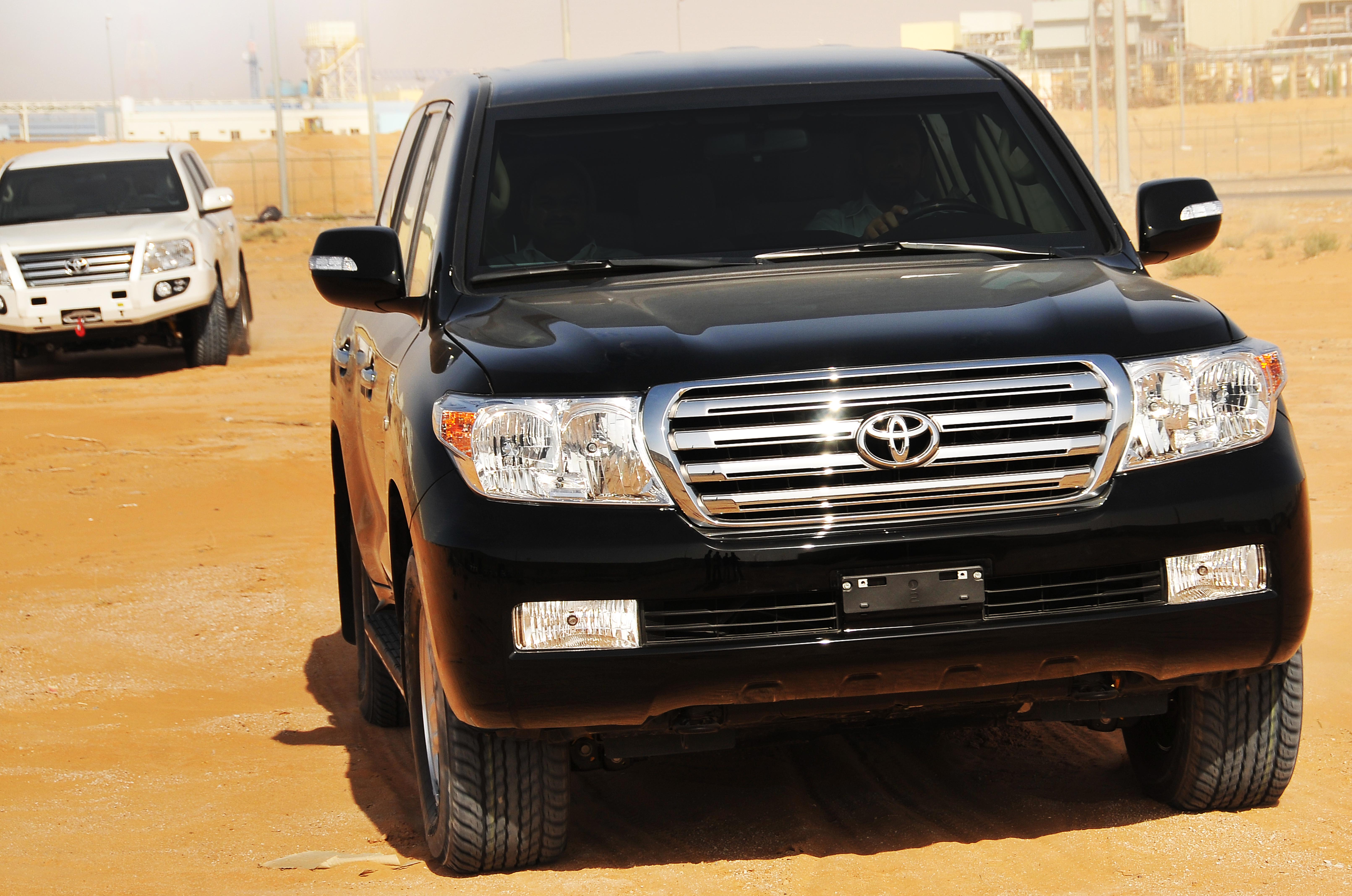 The Armored Toyota Land Cruiser